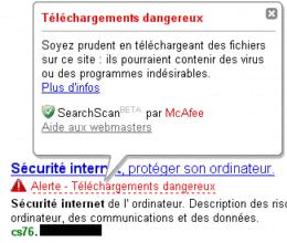 site web malveillant avec virus - cs76