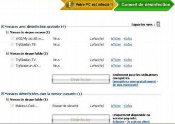 Virus détectés par ActiveScan