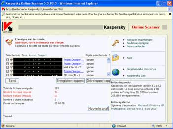 Virus informatiques détectés