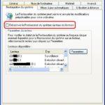 Désactiver/Réactiver la Restauration/Sauvegarde du Système Windows XP