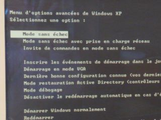 menu de démarrage Windows