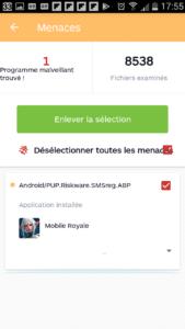 Malwarebytes trouve un PUP sur mobile