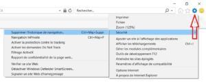 effacer les cookies internet dans Internet Explorer 11
