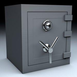 Un coffre-fort, métaphore du logiciel de sécurité internet